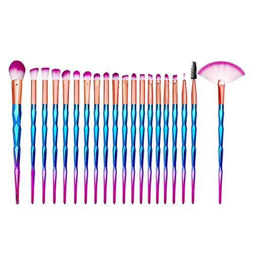 Lot de 20 Set Outils Pinceaux Maquillage Pinceaux pour le Yeux Ombre à Paupières Sourcils Shader Concealer Cosmetics Brush