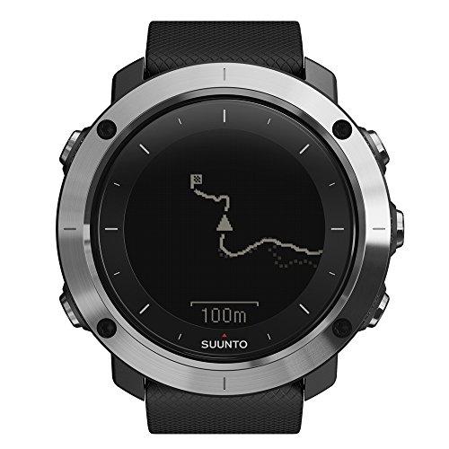 Suunto TRAVERSE - Reloj GPS de exterior para excursionismo y senderismo, hasta 100 horas de batería, sumergible, color negro