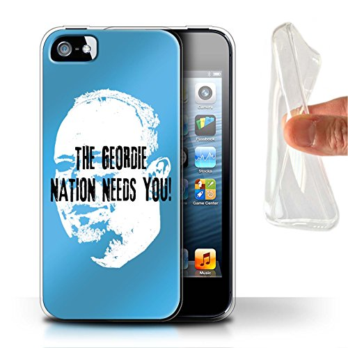 Offiziell Newcastle United FC Hülle / Gel TPU Case für Apple iPhone 5/5S / Pack 8pcs Muster / NUFC Rafa Benítez Kollektion Geordie Nation