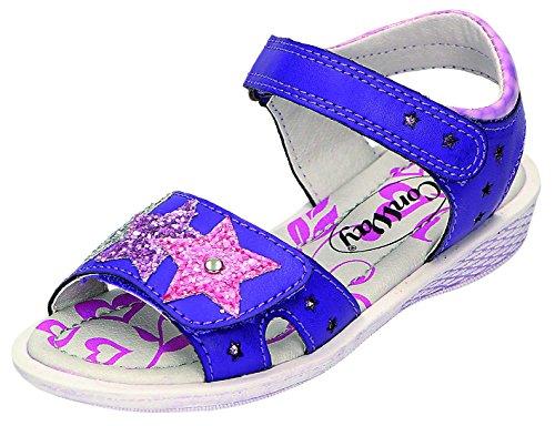 ConWay enfants sandales M. Velcro Sable. Rouge - Violet/vert-noir-blanc