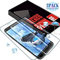 Aonsen Protector de Pantalla Galaxy S7 Edge, [2 Pack] Curvado Full Coverage Cristal Templado Protector de Pantalla, Alta Definizione, Anti-rasguños, 9H Dureza para Samsung Galaxy S7 Edge - Trasparente