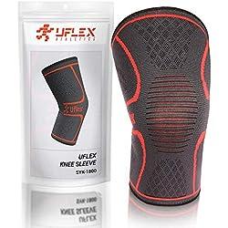 UFlex Athletics - Rodillera de compresión para correr, trotar, deportes, alivio del dolor en las articulaciones, artritis y lesiones, recuperación individual