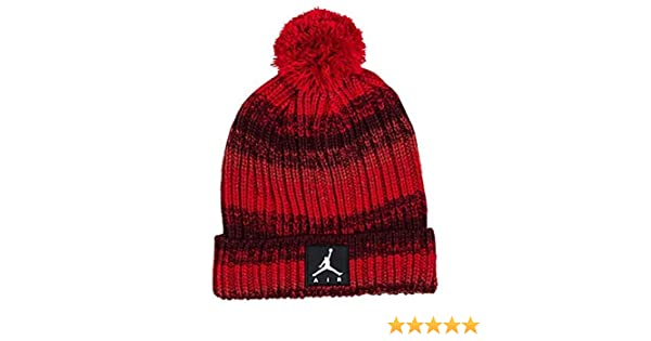 Size 8//20 Gym Red//Burgundy NIKE Youth Kids Jordan Ombre Beanie Ski Cap Hat