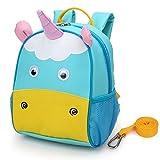 Yodo - Portapranzo per Bambini o Neonati, con Imbracatura di Sicurezza, Fodera Interna Isolante Unicorn
