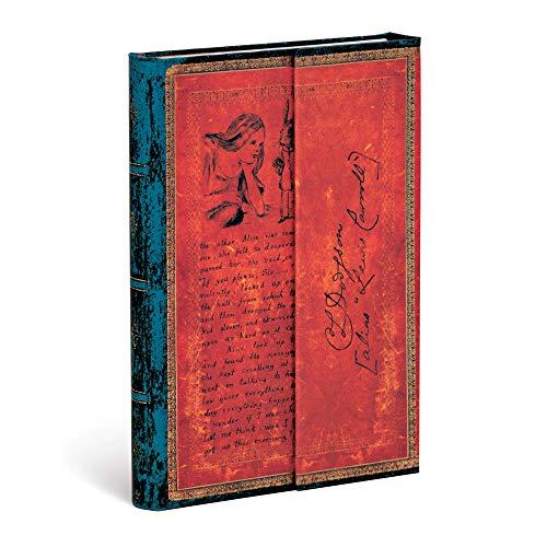 Paperblanks Diari a Copertina Rigida Lewis Carroll, Alice nel Paese delle Meraviglie | Righe | Mini (100 × 140 mm)