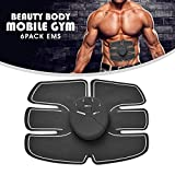Furein - Beauty Body Mobile, cintura fitness con 6 adesivi EMS per stimolazione ed allenamento degli addominali, ultra leggera, adatta a uomini e donne, ideale per scolpire il tuo corpo ed avere un ventre piatto, con controllo remoto