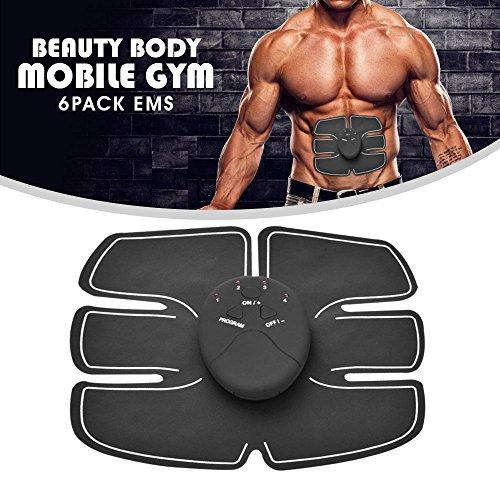 Foto de BEAUTY BODY MOBILE GYM 6 PACK EMS, ultra ligero, hombres y mujeres, cinturón fitness, vibración pads para hombres y mujeres, entrenamiento home, vientre plano, musculación, estimulación eléctrica muscular, esculpir cuerpo, entrenador abdominal, control re