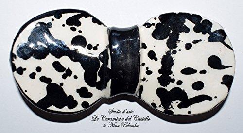 Preisvergleich Produktbild Fliege Keramik Action Painting Linie Piece Unique Hergestellt und von Hand bemalt Le Ceramiche del Castello Made in Italy Maße: 10 x 5 cm.