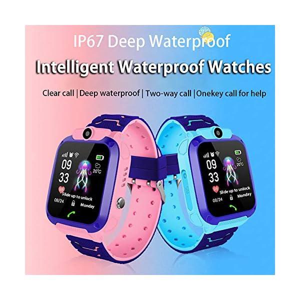 Localizador GPS Niños, Reloj GPS Niños Localizador Con SOS Anti-Lost Alarm Para Tarjeta Pantalla Táctil Smartwatch Para… 6