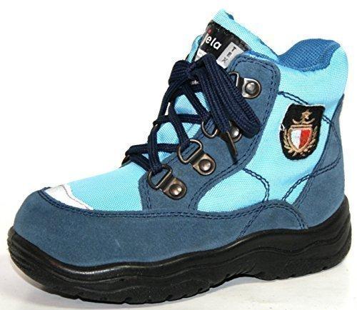 Jela Tex Chaussures Pour Enfants 61.123 Garçons Bottines Bottines Bleu