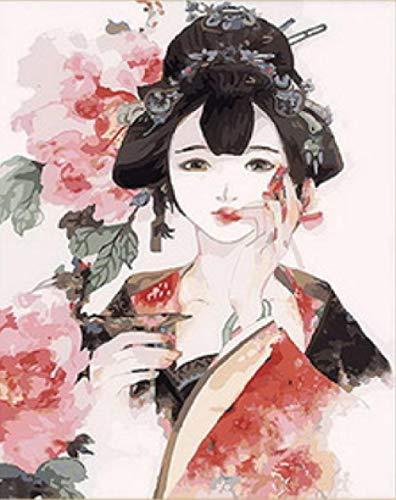 Das Kostüm Shanghai Alte - srtyu Handgemalte Ölgemälde Alten Kostüm Hanfu handgemalte Farbmalerei Mädchen Schlafzimmer Dekoration Malerei Alten Wind Mädchen