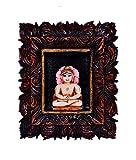 purpledip Jain Religiöse Gott mahavir Statue: in Skulpturen Poly Harz für Home Tempel, Büro, Auto Armaturenbrett oder Shop Puja Regal | Jainismus Geschenk (10432)