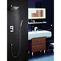 parete rubinetto doccia montaggio a nichel spazzolato