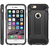 iPhone 5 / 5S / SE Case, iPhone 5S Cover, [Survivor] Military-Duty Case - Shockproof Impact Resistant Hybrid Heavy Duty [armor case] Dual Layer Armor Hard Plastic And Bumper Protective Cover Case for Apple iPhone 5/5S/SE [SHOCKPROOF] Cover, (BLACK)
