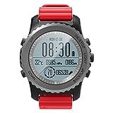 GPS Outdoor-Uhr Abenteurer Uhren Enthält Kompass/ Barometer/ Thermometer Funktionen Zum Triathlon Klettern Wandern,OOLIFENG,Red