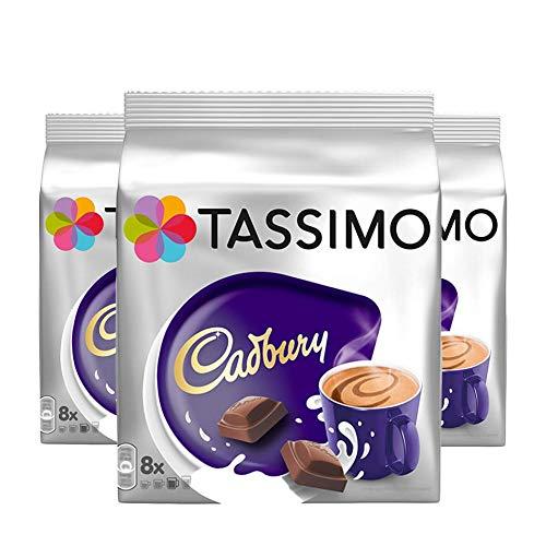 Tassimo Cadbury 3 Packungen zu-Kapselspender Heiße Schokolade - 24 Kapseln