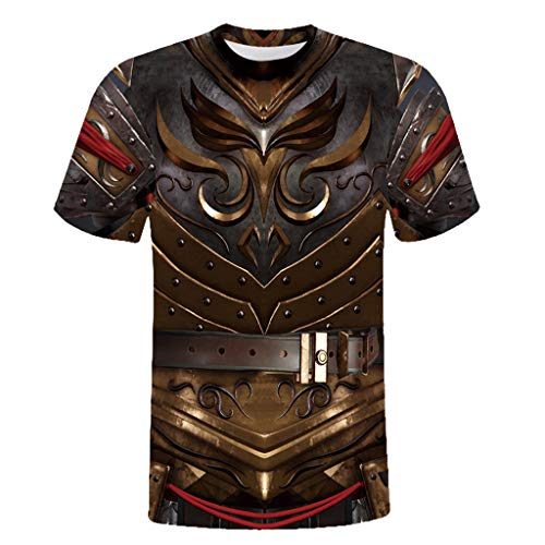 WooCo Saving ! Herren Holiday Lustig T-Shirts Rude Stag Party Kostüm 3D Offensive Brüste T-Shirts gedruckt Neuheit Einzigartige Tops (Schwarz E,EU-L/CN-XXL) -