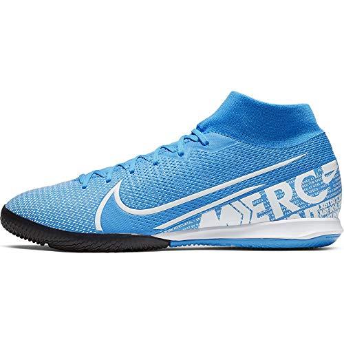 Nike Unisex-Erwachsene Superfly 7 Academy Ic Futsalschuhe, Mehrfarbig (Blue Hero/White/Obsidian 414), 44.5 EU