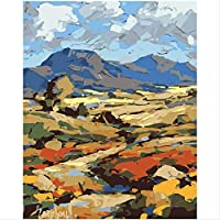 BPAINTF Painting By Numbers Diy Lush Field Oil Painting Scenery Canvas Art Painting by Numbers deco painting 60X75cm DIY FRAMED