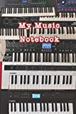 My Music Notebook: 150 page journal for writing down your songs, includes space for writing lyrics and music staves. Comes with a customizable table ... reference. Glossy softcover, perfect bound.