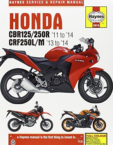 Honda CBR125/250R & CRF250L/M Service and Repair Manual (Haynes Service and Repair Manuals)