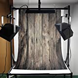 DODOING 3ft X 5ft Vinyl Photo Backdrop Printed Photography Backgrounds Wood Wall Floor Photography Backdrop