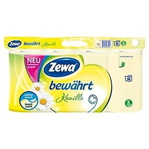 Zewa Toilettenpapier Bewährt Kamille, 16 Stück