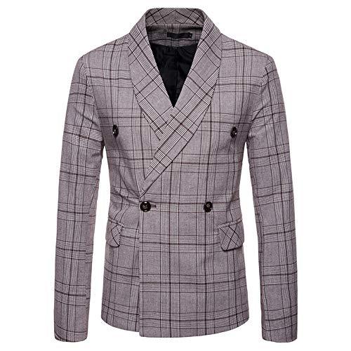Topgrowth Blazer Uomo Giacca Slim Fit Primaverile Cappotto A Manica Lunga  Elegante Camicetta Giacca Vestiti Doppiopetto 6e6a6ecf123