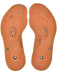 Welecom Pieds Care magnétique Thérapie de massage Chaussures à semelle intérieure, pied de massage Semelles Coussinets