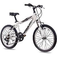 Unbekannt 20 pulgadas aluminio Mountain Bike Bicicleta infantil KCP Street con 6 velocidades Shimano Blanco