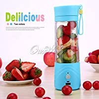 Electric Blender Bottle Wireless USB Rechargeable Juice Cup 380ML