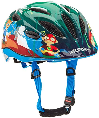 ALPINA Jungen Fahrradhelm Gamma 2.0 Flash, Superhero, 46-51 cm, 9693071