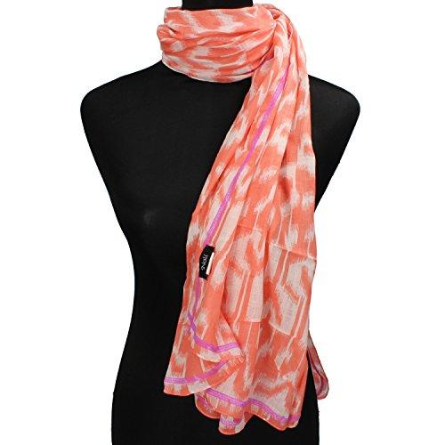 NALì sciarpa pareo pashmina donna rosso corallo cotone AF455