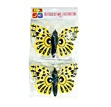 Invero® 2x Pack of Giant Garden Butterfly Wall Fence Tree Decoration Mounted Hanging Decor