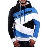 Rusty Neal Sportives Herren Kapuzen Sweatshirt Hoodie Pullover Jacke 4727, Größe:XL;Präzise Farbe:Schwarz/Blau/Weiss