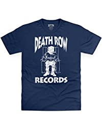 Official Death Row Records Logo White T-shirt, Pour homme