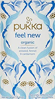Pukka Feel New, Organic Herbal Tea with Aniseed, Fennel & Cardamom, 20 Tea