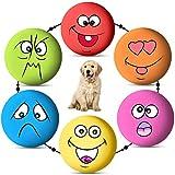 6 STÜCKE Hund Quietschende Spielzeug Latex Weiche Hundespielzeug Gummi Quietschende Kauspielzeug Holen Spielbälle