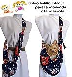 Tasche um das Haustier zu tragen Blaue gestempelte Welpen Für Chiguagua Bichon Yorkshire usw bis zu 3 Kg Waschbar. Auch die Handtasche eines Mädchens