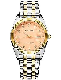 9efb3d4b41bf Longbo de lujo chapado en oro correa de acero inoxidable negocio relojes  Datejust señorías vestido reloj