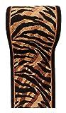 Läufer Teppich Flur in Beige Schwarz - Tiere Motive - Kurzflor Teppichlaufer