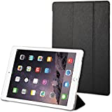 iPad Pro Case, GMYLE Flip Cover Silk for iPad Pro - Black Slim Magnetic Three-fold Auto Wake and Sleep Smart Cover Case