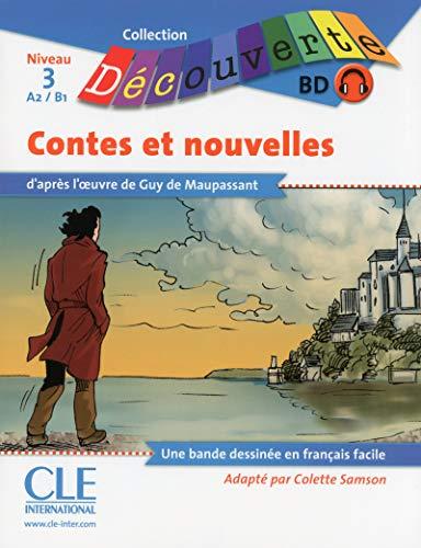 BD Les contes et nouvelles de Maupassant - Niveau 3-A2/B1 - Lecture Découverte - Livre + CD