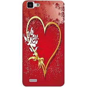 Casotec Love Rose Design 3D Printed Hard Back Case Cover for vivo Y27L