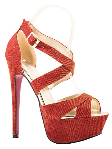 Elara - Scarpe con plateau Donna Rot Highlight