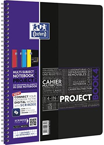 OXFORD 400037432 Projectbook Studium Digitaler Collegeblock A4 kariert 100 Blatt - Zufallsfarbe, kein Farbwunsch möglich