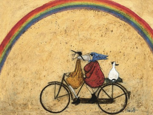 sam toft 60 x 80 cm somewhere under a rainbow canvas