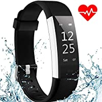 Fitness Tracker Watch AISIRER Waterproof Activity Tracker with Heart Rate Sleep Monitor, Large Screen Pedometer Watch Connected GPS for Kids Women Men, Smart Wristband with Call SNS SMS Sedentary Reminder