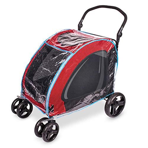 IREENUO Hundewagen Regenhülle Haustier Kinderwagen Reißverschluss Regenhülle Einfach Auf und ab zu Gehen - 307 Hundewagen Gewidmet