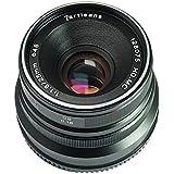 7Artisans 25mm F1.8mise au point manuelle objectif pour appareil photo Fujifilm Fuji X-A1X-a10X-A2X-a3X-at X-M1XM2X-T1X-T10X-t2X-t20X-Pro1X-pro2X-E1X-E2X-E2s–Noir